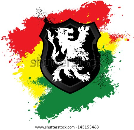 rastafarian lion shield