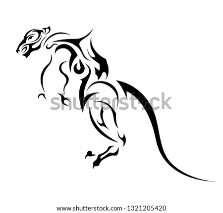 rat with long tail abstract