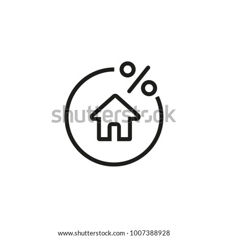 Rate for mortgage icon