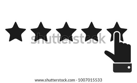 Rating golden stars. Vector illustration