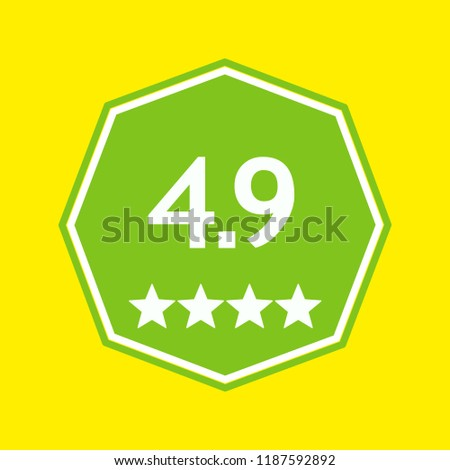 Rating icon. Google Play. App icon. Android. Vector illustration. EPS 10.
