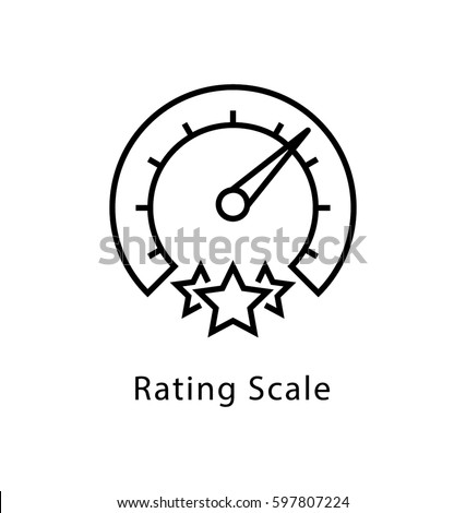 Rating Scale Vector Line Icon
