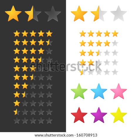 Rating Stars Set. Vector
