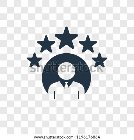 Rating vector icon isolated on transparent background, Rating transparency logo concept