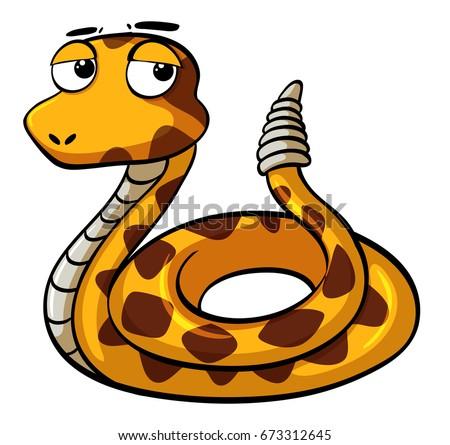 stock-vector-rattle-snake-on-white-background-illustration