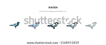 raven icon in different style