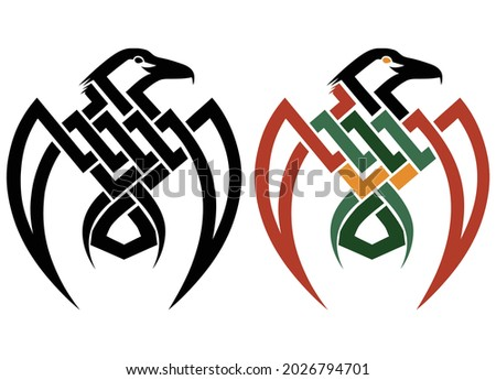 raven tribal tattoo sketch
