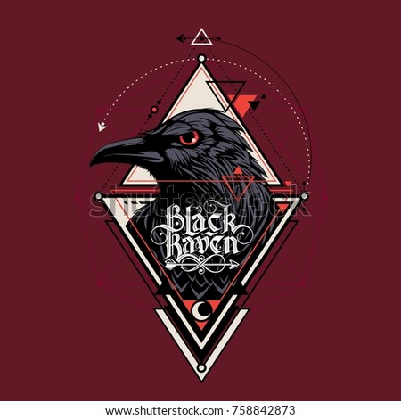 raven with triangle ornament