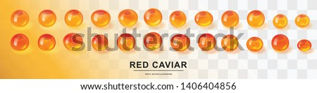 raw red caviar collection