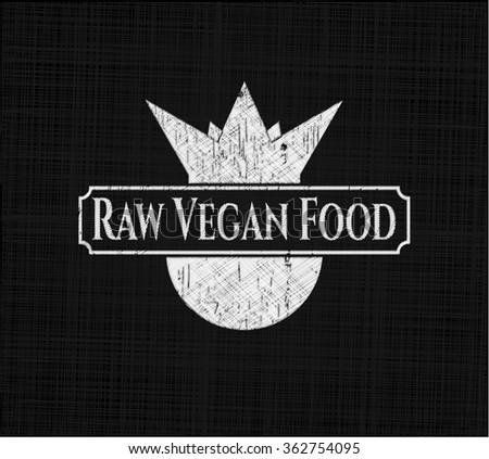 Raw Vegan Food chalk emblem