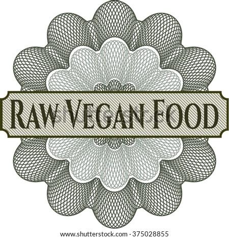 Raw Vegan Food inside a money style rosette