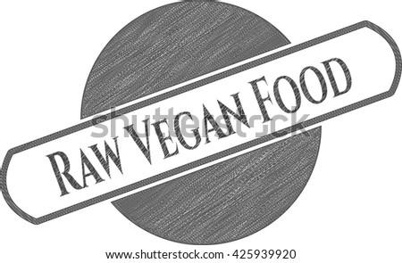 Raw Vegan Food pencil draw