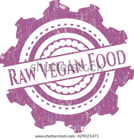 Raw Vegan Food rubber stamp