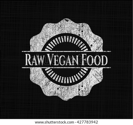 Raw Vegan Food with chalkboard texture