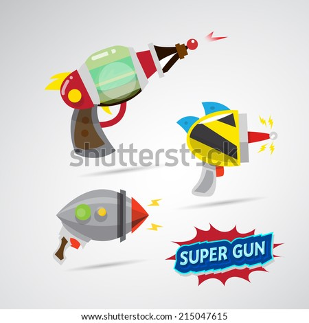 ray gun cartoon supergun