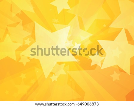 rays and stars yellow background
