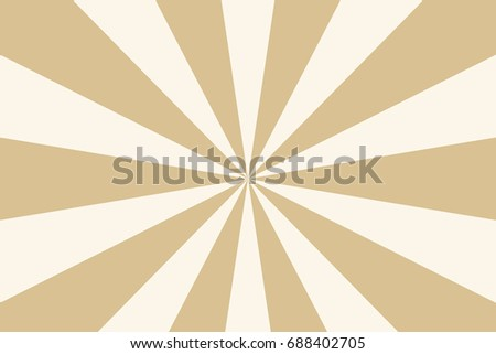 Rays, beams, burst design element. Geometric design to create trendy backgrounds, layouts in comic style, retro, vintage backdrops. Circular, radial abstract background. Rectangular pattern Beige