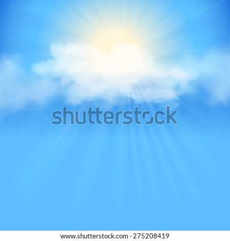 rays of sunlight breaking