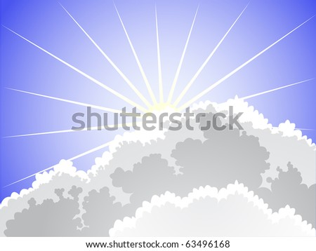rays of the sun breaking