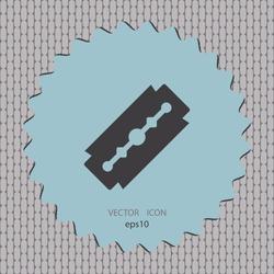 Razor blade, vector icon, web design element