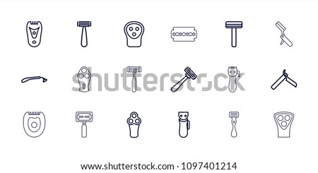 Razor icon. collection of 18 razor outline icons such as . editable razor icons for web and mobile.