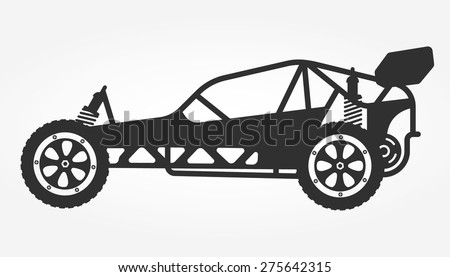 rc car buggy toy isolated