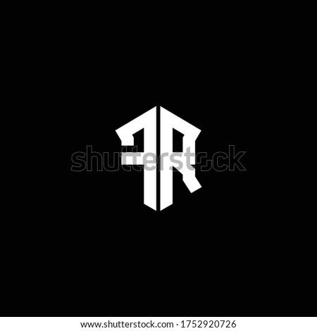 rd logo monogram with shield shape design template Stock fotó ©