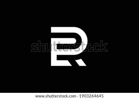 RE letter logo design on luxury background. ER monogram initials letter logo concept. RE icon design. ER elegant and Professional white color letter icon on black background. Stock fotó ©