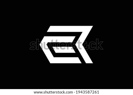 RE letter logo design on luxury background. ER monogram initials letter logo concept. RE icon design. ER elegant and Professional white color letter icon design on black background. Stock fotó ©