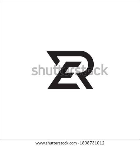 RE or ER letter logo design. Stock fotó ©