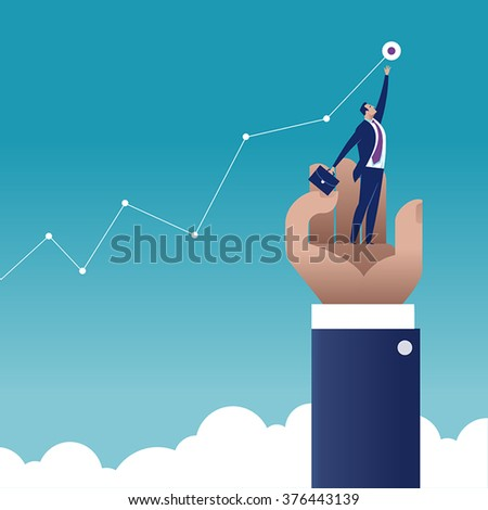 Reaching. Business concept illustration