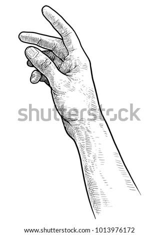 reaching hand illustration