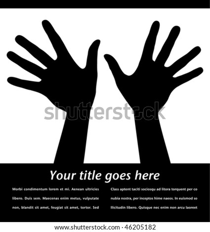 Reaching hands with copy space vector.