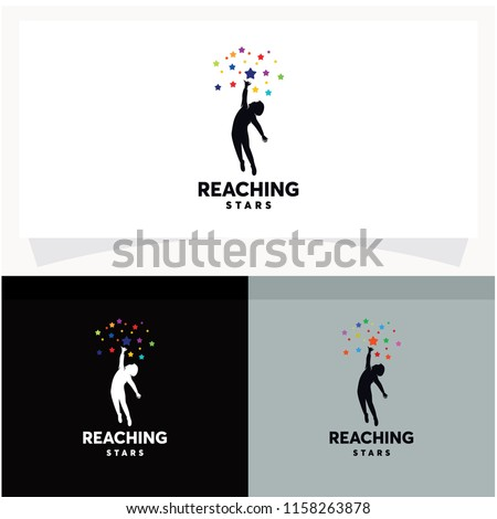 reaching stars logo design