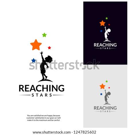 reaching stars logo design