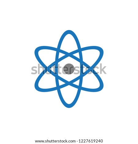 React native icon vector, atom symbol.