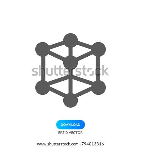 React native icon vector, atom symbol.