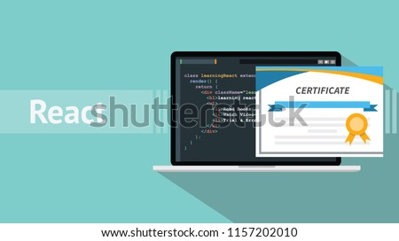 react native programming online learning certification school vector graphic illustration