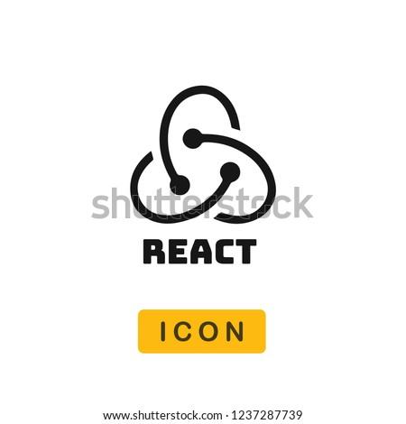React vector icon