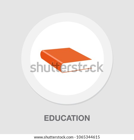 read book -  vector icon, library illustration, education symbol