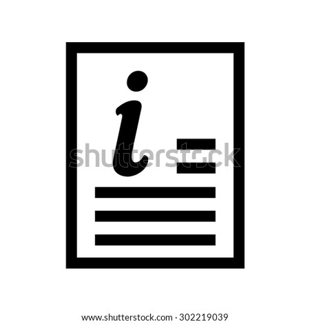 Royalty Free Read Instructions Symbol Vector Icon 302219033 Stock