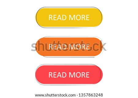 Read more button. Read More creative concept for websites, retail stores, advertising. #1357863248