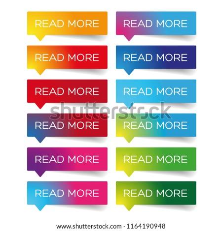 Read More colorful label set