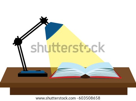 reading a book with lamp