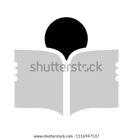 reading Book book - vector icon, library illustration, education symbol