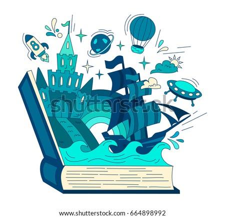 reading book  imagination