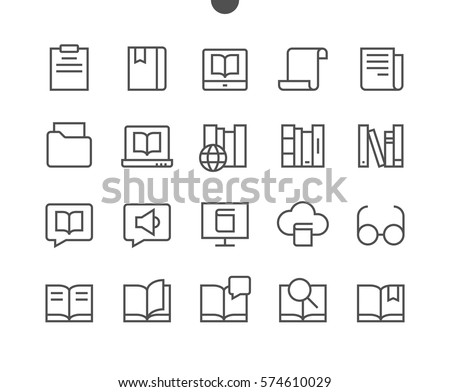 Reading View Outlined Pixel Perfect Well-crafted Vector Thin Line Icons 48x48 Ready for 24x24 Grid for Web Graphics and Apps with Editable Stroke. Simple Minimal Pictogram Part 3-3