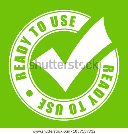 Ready to use vector icon on green background Foto d'archivio ©