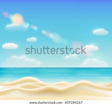 real beautiful bright sea sand
