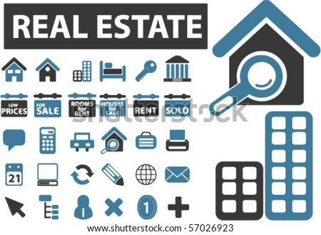 real esate & construction signs. vector - stock vector